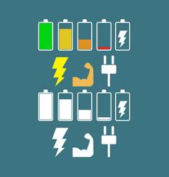 power flat icon vector image