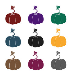 pumpkin icon in black style isolated on white vector image