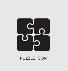 Puzzle icon vector