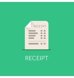 Receipt Icon The bill with total cost vector image