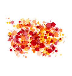 red orange yellow watercolor drops background vector image