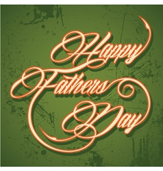 Retro Happy Fathers Day greeting vector image