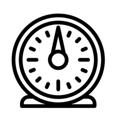retro kitchen timer icon outline style vector image