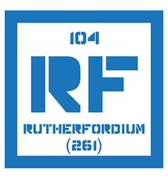 Rutherfordium chemical element vector