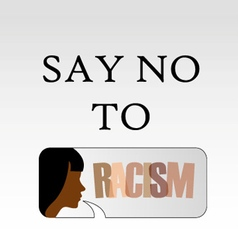 Say no to racism vector