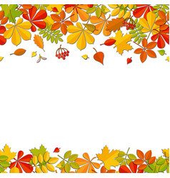 seamless border autumn falling leaf isolated on vector image