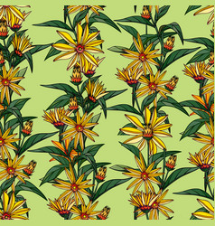 seamless pattern composed of flowers vector image
