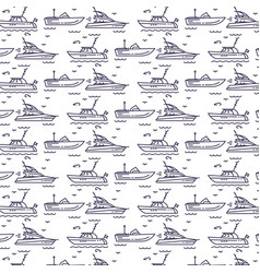 Seamless pattern with yachts vector