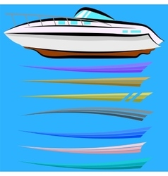 Set of Boat Graphics vector