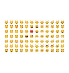 set of emoticon cat vector image