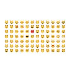 Set of emoticon cat vector