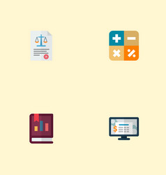Set of registration icons flat style symbols with vector