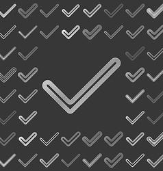 Silver metallic confirm logo design set vector