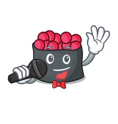 singing ikura mascot cartoon style vector image