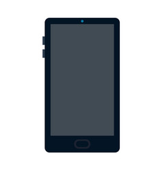 smart phone with a large screen flat isolated vector image