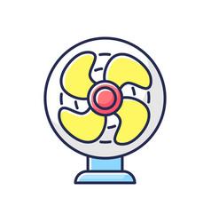 Table fan rgb color icon vector