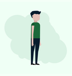 the guy in the flat style vector image