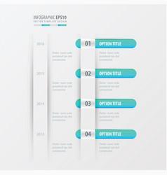 timeline design blue gradient color vector image