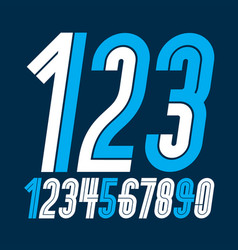 Trendy bold numbers collection numeration made vector