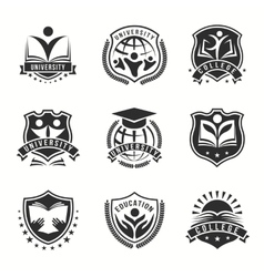 University And College Logos Emblem Set vector