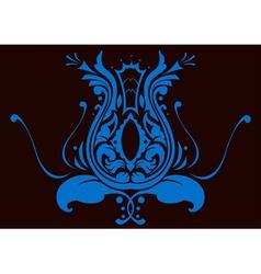 vector illustraition of retro abstract swirl backg vector image