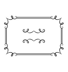 Vintage calligraphic rectangle frame vector