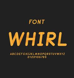 whirl italic font alphabet vector image