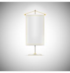 white pennant or flag on chrome base vector image