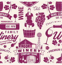 Winery seamless pattern or background vector