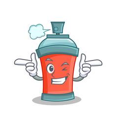 Wink aerosol spray can character cartoon vector