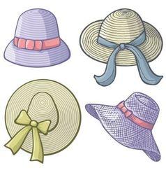 Women hats vector