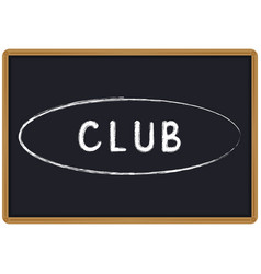 word club chalk written on a blackboard vector image