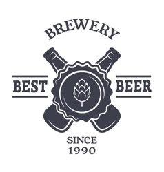 Beer Vintage emblem and place for text vector image vector image