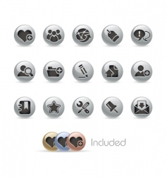 blog and internet icons vector image vector image
