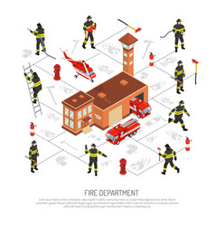 fire department infographic vector image
