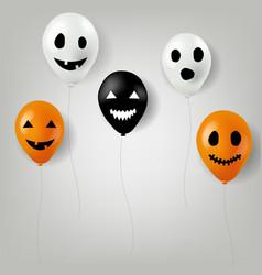 halloween balloons vector image vector image