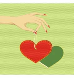 heart in arm vector image vector image