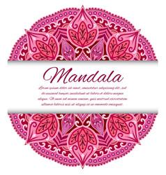 mandala card or invitation red wedding vector image