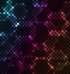 Mosaic with colourful hexagons background vector image