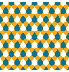 White Blue Orange Water Drops Background vector image vector image