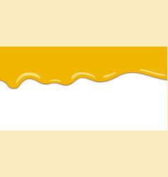 yellow drips on white back lemon jelly or honey vector image