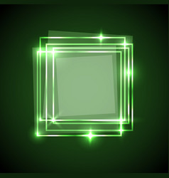 abstract background with green squares banner vector image vector image