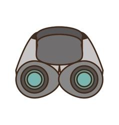 binoculars explorer glasses spyglass vector image
