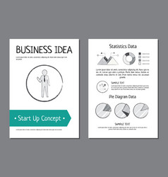 business idea and start up vector image vector image