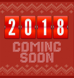 coming soon 2018 new year concept of card on the vector image