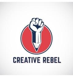 Creative Rebel Abstract Sign Symbol Icon vector image