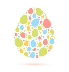 Easter egg stylized cute greeting card vector image vector image