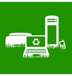 green electronics recycling vector image