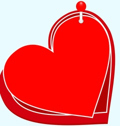 Hearts on the PIN vector image vector image
