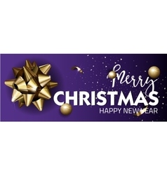 Merry Christmas or Happy New Year web banner vector image vector image